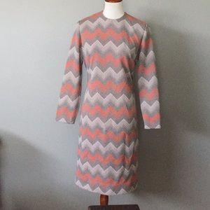 Stoner square vintage chevron dress